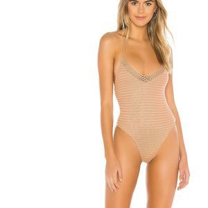LOVEWAVE Bayside Crochet Boho One Piece in Natural